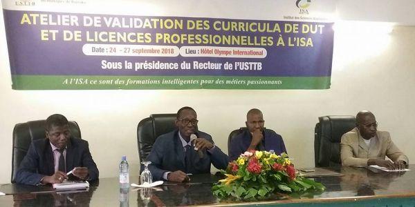 Atelier pour la validation de nouveaux programmes d'enseignement de l'ISA
